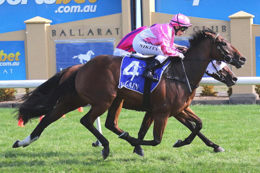 Mr Churchill salutes at Ballarat