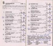 Australian Cup racebook 1979