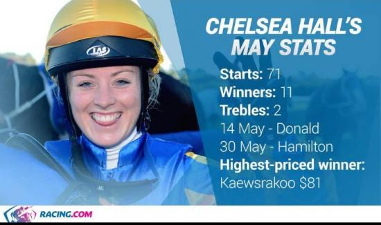 Chelsea Hall delivers in May