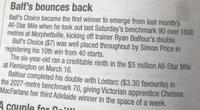 Winning Post - Balf's Bounces Back - Metro Double for RBR