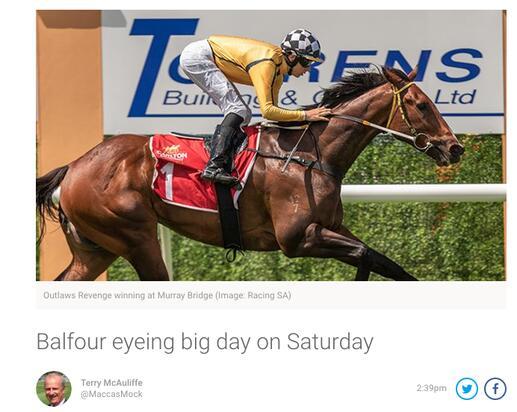 Racing.com - Balfour eyeing big day on Saturday