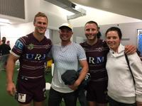 Matthew & Keira Dunn, Pictured In The Sheds With DCE & Blake Green At CBUS Stadium