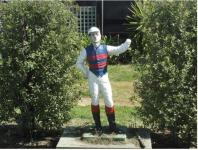 Our jockey statue