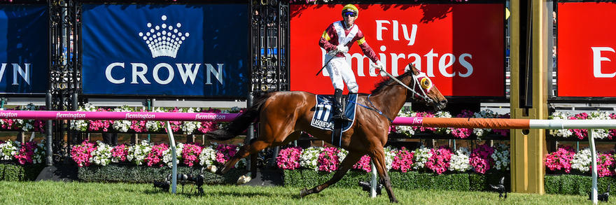 Lasqueti Spirit scores stunning upset in Group 1 staying classic at Flemington