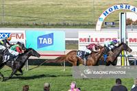 Sister Kitty Mac wins the last on Horsham Cup Day