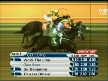 A very gutsy win by Work The Line at Geelong