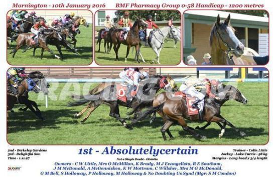 Absolutelycertain wins first up at Mornington