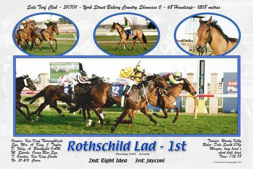 ROTHSCHILD LAD WINS R68 SHOWCASE SALE 1208M