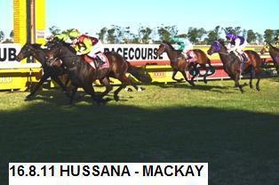 HUSSANA WINS CLASS 3 MACKAY 1250m