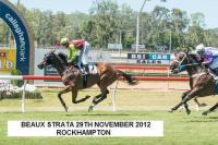 BEAUX STRATA WINS THREE ON THE TROT
