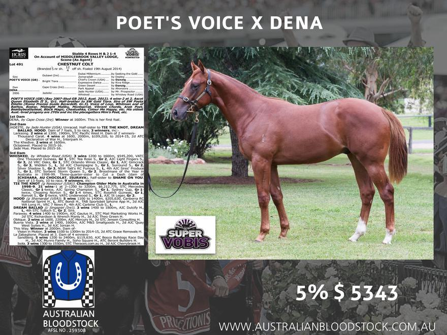 Poets Voice Colt To Darren Weir