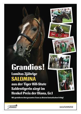 Group 1 Winning Pedigree For SALOMINA