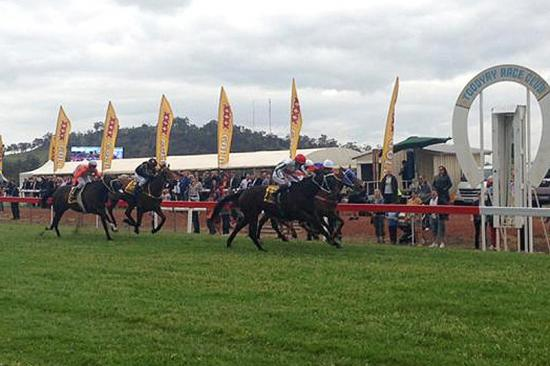 Private O'Dea Salutes in the Toodyay Cup