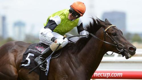 NOW A LISTED WINNER TUSCAN FIRE wins MORNINGTON CUP TODAY