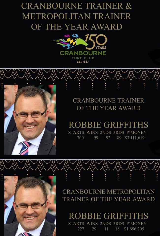 Cranbourne Trainer Of The Year!