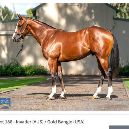 Invader X Gold Bangle