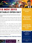 Stable Open Day - 15 Nov 15