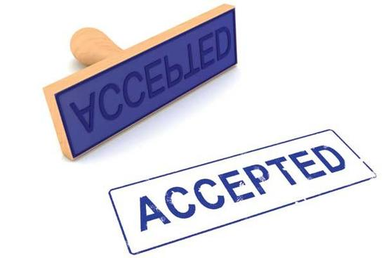 TRJC Acceptances For Sunday June 3rd