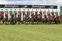 The Team Competes With Runners At Flemington On Saturday