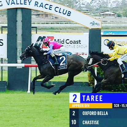 Well-deserved Maiden Win to Oxford Bella at Taree on Sunday!