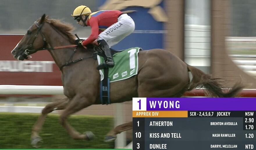 Atherton Wins maiden in Emphatic Fashion at Wyong on Cup Day!