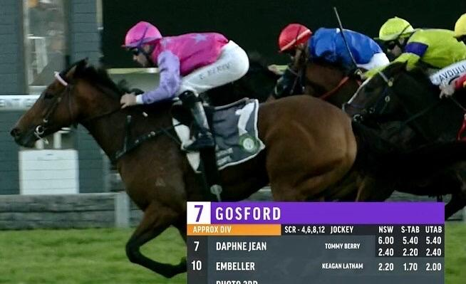 Daphne Jean Resumes with Breathtaking win at Gosford!