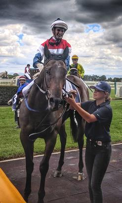 Well-deserved maiden victory to Pellegrina at Hawkesbury on Saturday!