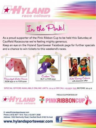 PINK RIBBON DAY AT CAULFIELD