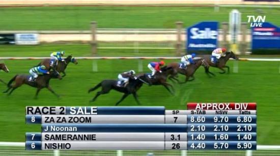 Za Za goes Zoom to win at Sale