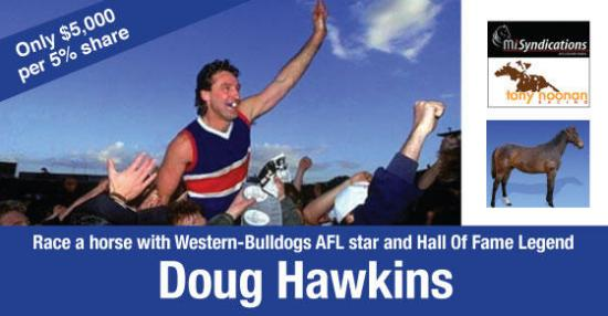 Race a horse with Bulldogs legend Doug Hawkins
